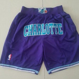 NEW Just Don Charlotte Hornets Basketball Shorts